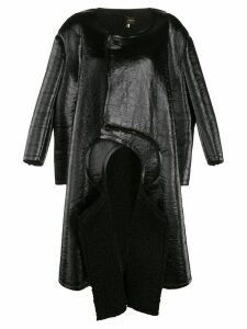 Comme Des Garçons double-sleeve flared coat - Black