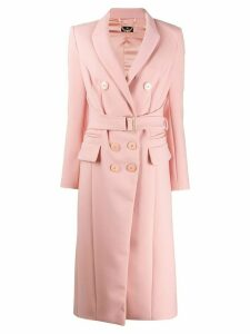 Elisabetta Franchi fitted belted coat - Pink