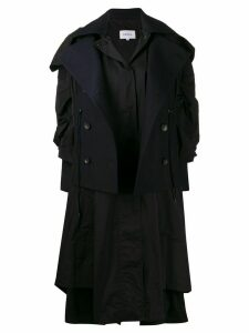 Enföld layered oversized coat - Black