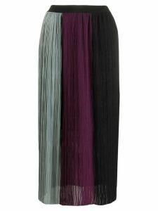Semicouture colour-block skirt - Blue