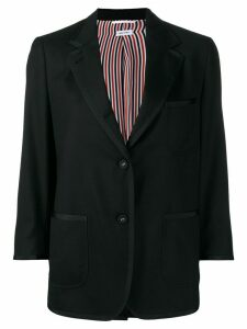 Thom Browne cropped sleeves blazer - Black