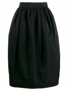 Rochas ruched detail full skirt - Black