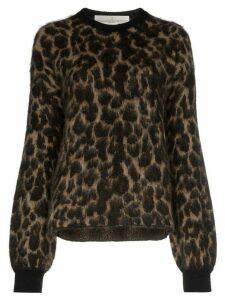 Golden Goose leopard pattern jumper - Brown