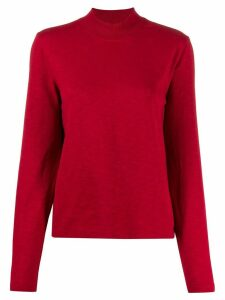 YMC roll-neck jersey top - Red