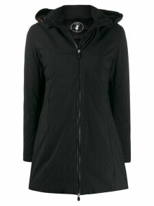 Save The Duck hooded zipped parka coat - Black