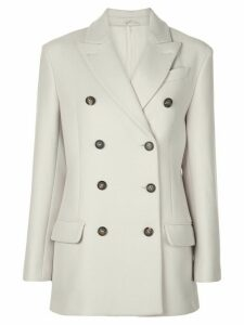 Brunello Cucinelli double-breasted blazer - Neutrals