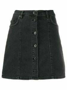 McQ Alexander McQueen short A-line denim skirt - Black