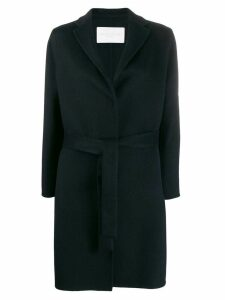 Fabiana Filippi belted fine knit coat - Blue
