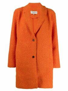 YMC faux-shearling single-breasted coat - ORANGE