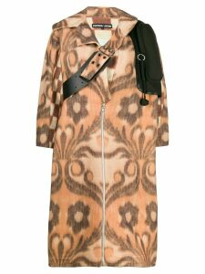 Chopova Lowena floral check patterned coat - Neutrals