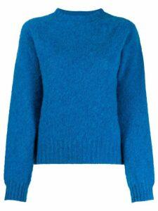 YMC crew-neck knit sweater - Blue