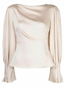 Peter Pilotto draped satin blouse - Neutrals
