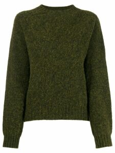 YMC crew-neck knit sweater - Green