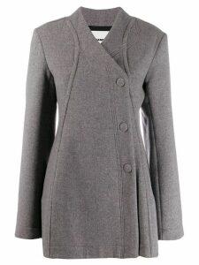 Jil Sander buttoned oversized coat - Grey
