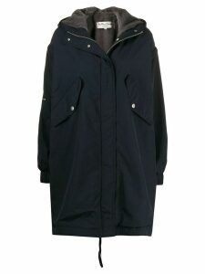 YMC hooded parka coat - Blue