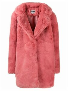 Apparis faux-fur coat - Pink