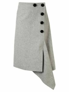 Sacai button up asymmetric skirt - Grey