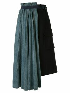 Sacai asymmetric denim skirt - Black