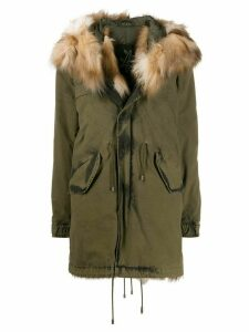 Mr & Mrs Italy textured hood parka coat - Green