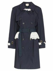 Rentrayage Weekend in Sandringham trench coat - Blue
