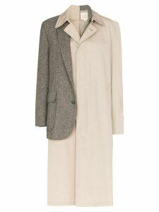 Rentrayage Dr Watson blazer trench coat - Neutrals