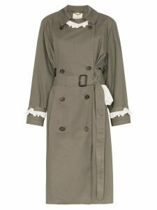 Rentrayage Weekend in Sandringham trench coat - Green