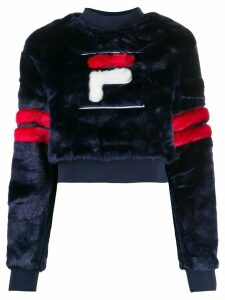 Fila textured logo sweater - Blue