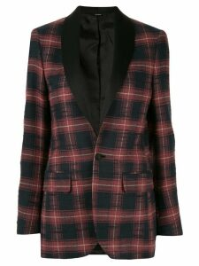 R13 checked single-breasted blazer - Red