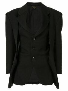 Comme Des Garçons distressed single-breasted blazer - Black