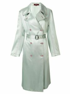 Sies Marjan Sigourney satin trench coat - Green