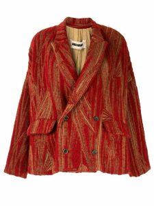 Uma Wang textured printed blazer