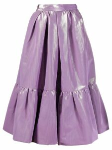 Marc Jacobs shiny tiered midi skirt - Purple