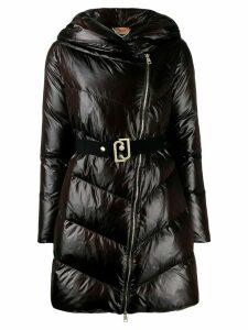 LIU JO down mid-length coat - Black