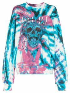 Amiri skull logo print tie-dye sweatshirt - PURPLE