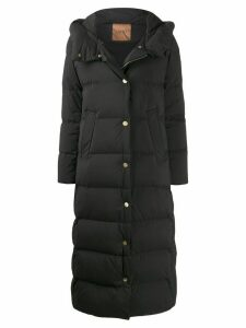 LIU JO oversized quilted long coat - Black