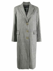 Ermanno Scervino glittered houndstooth coat - Black