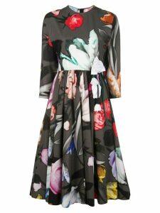 Prada floral print midi dress - Black