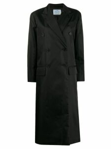 Prada double breasted coat - Black