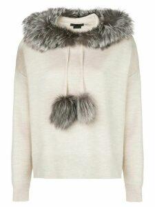 Alice+Olivia Oscar oversized hoodie - Neutrals