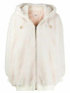 Yves Salomon Meteo hooded coat - White