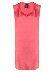 Ann Demeulemeester cowl-neck sleeveless dress - PINK