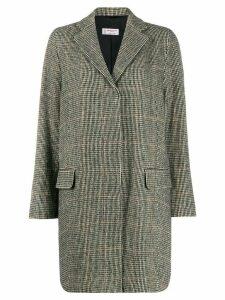 Alberto Biani single-breasted check coat - Black