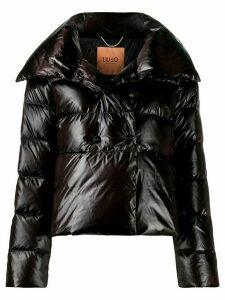 LIU JO double-breasted puffer jacket - Black