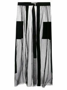Loulou sheer tulle skirt - Black