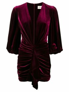 Alexandre Vauthier draped detail cocktail dress - Red