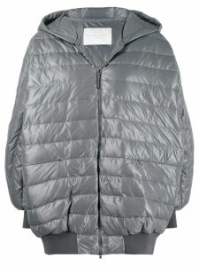 Fabiana Filippi padded zipped coat - Grey