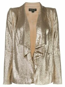 Rachel Zoe draped sequin blazer - GOLD