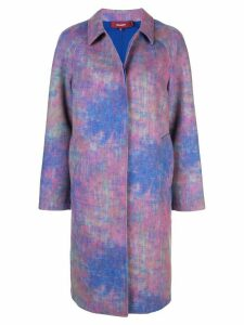 Sies Marjan Ripley abstract print coat - Purple