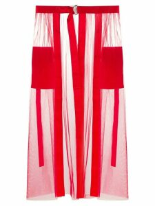 Loulou tulle midi skirt - Red