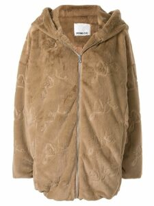 Ground Zero faux fur hooded coat - Brown